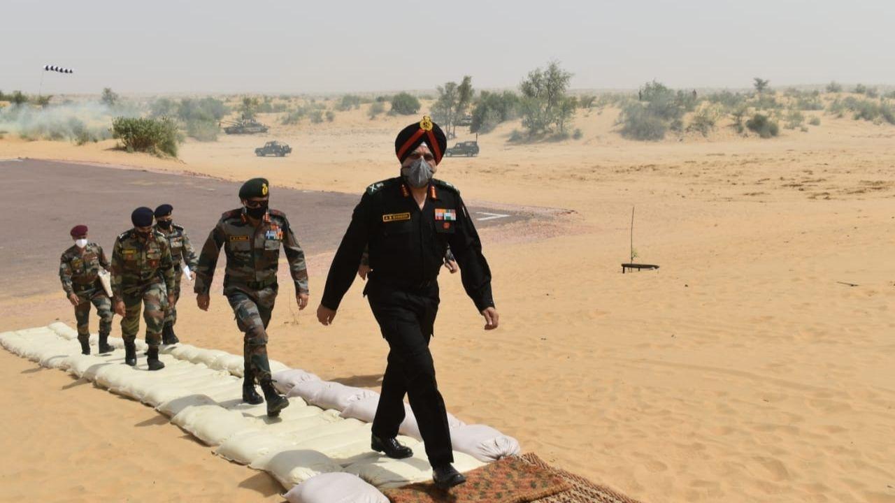 Lieutenant General AS Bhinder, Chetak Corps, Mahajan Field Firing Ranges,