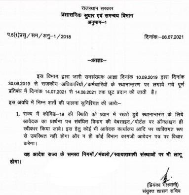 Transfer News, Transfer, Rajasthan Government,